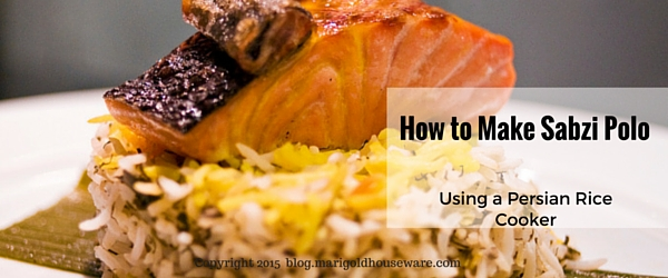 How to make Persian Herbed Rice (Sabzi Polo) with a Persian Rice Cooker